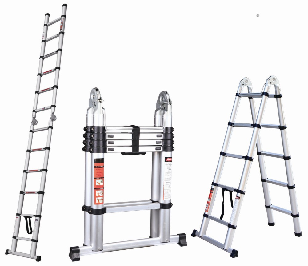 Aluminum Telescopic Ladder : Adto best seller dual side compact aluminum telescopic