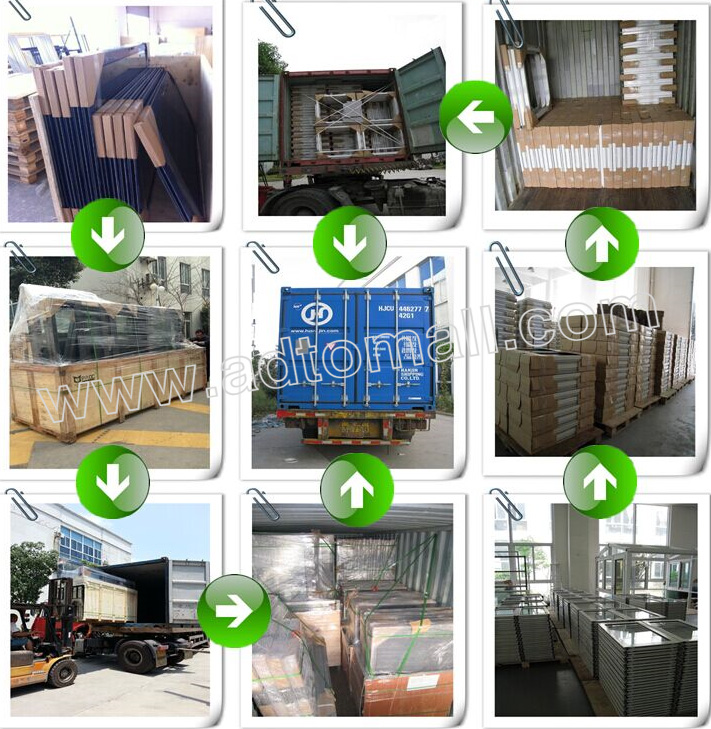 aluminum windows packaging and shipping