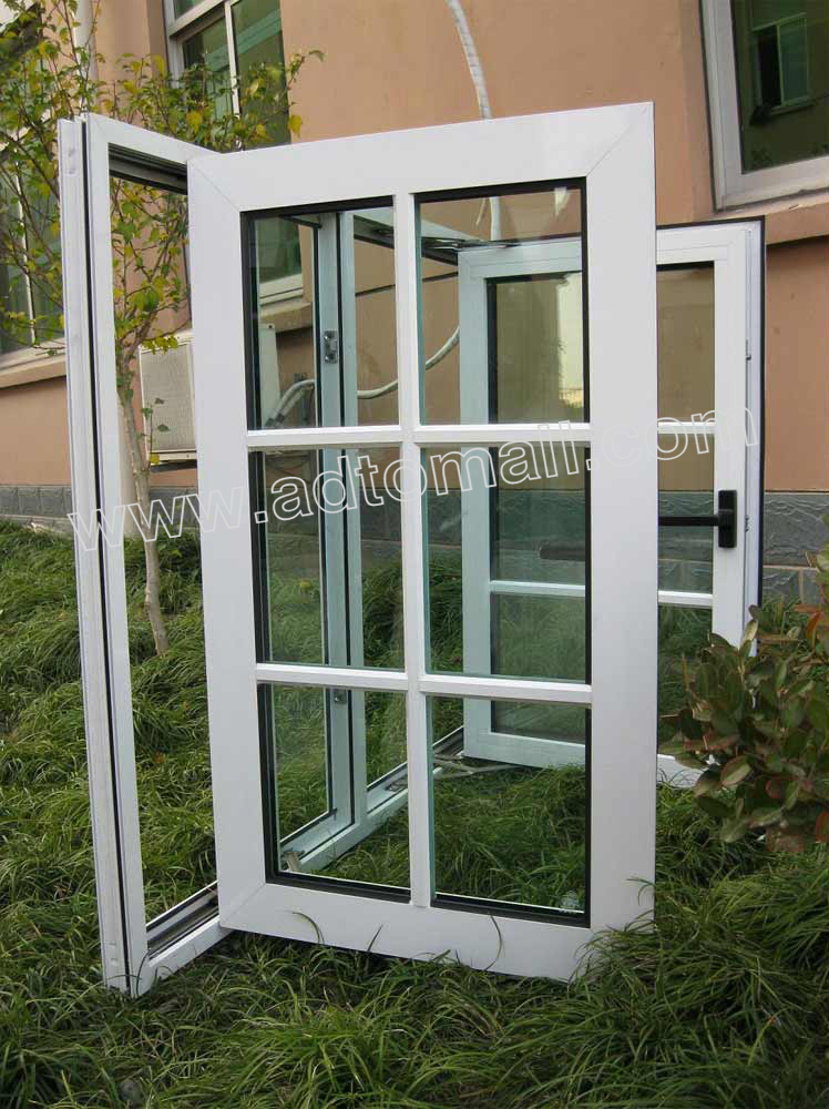 Aluminum Windows Product : Economic power coating aluminum casement windows for sale