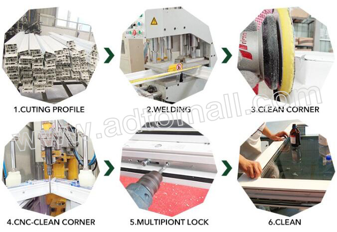 aluminum windows product process