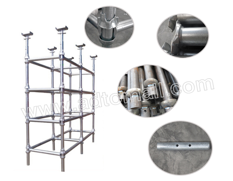 Hot dipped galvanized cuplock scaffolding product images