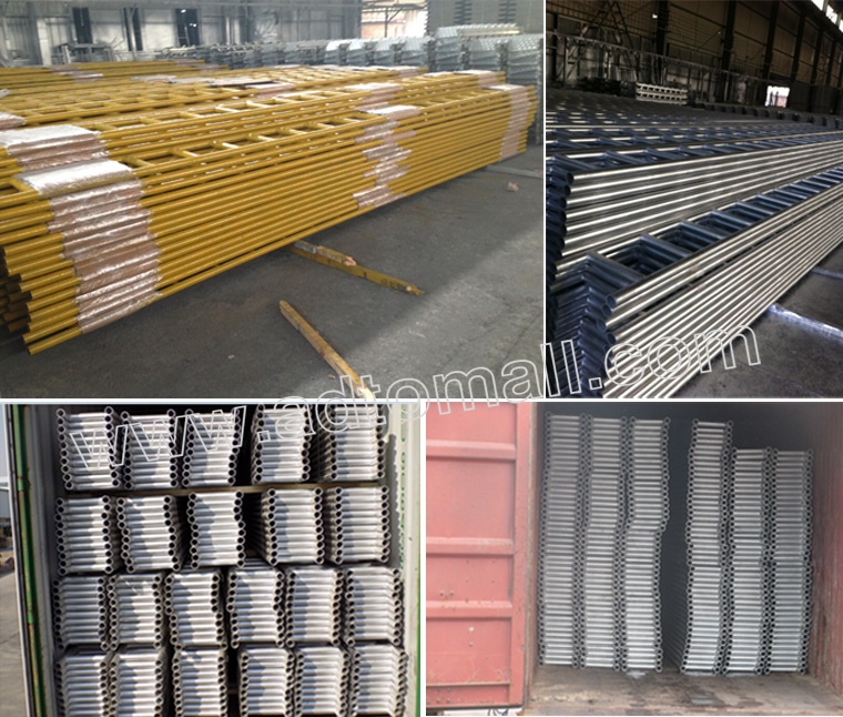 scaffolding ladder beam packaging and shipping