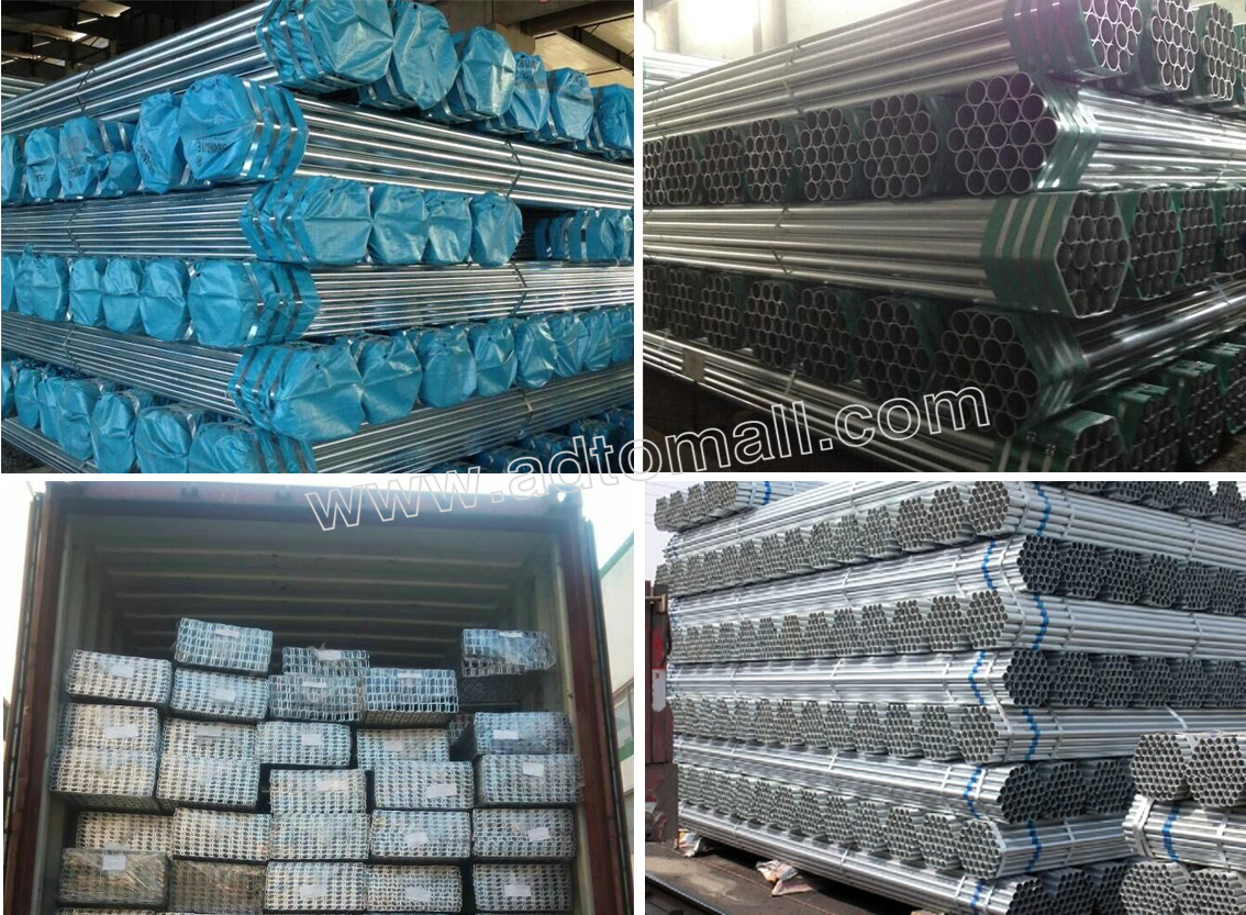 hot dipped galvanized pipe packaging and shipping