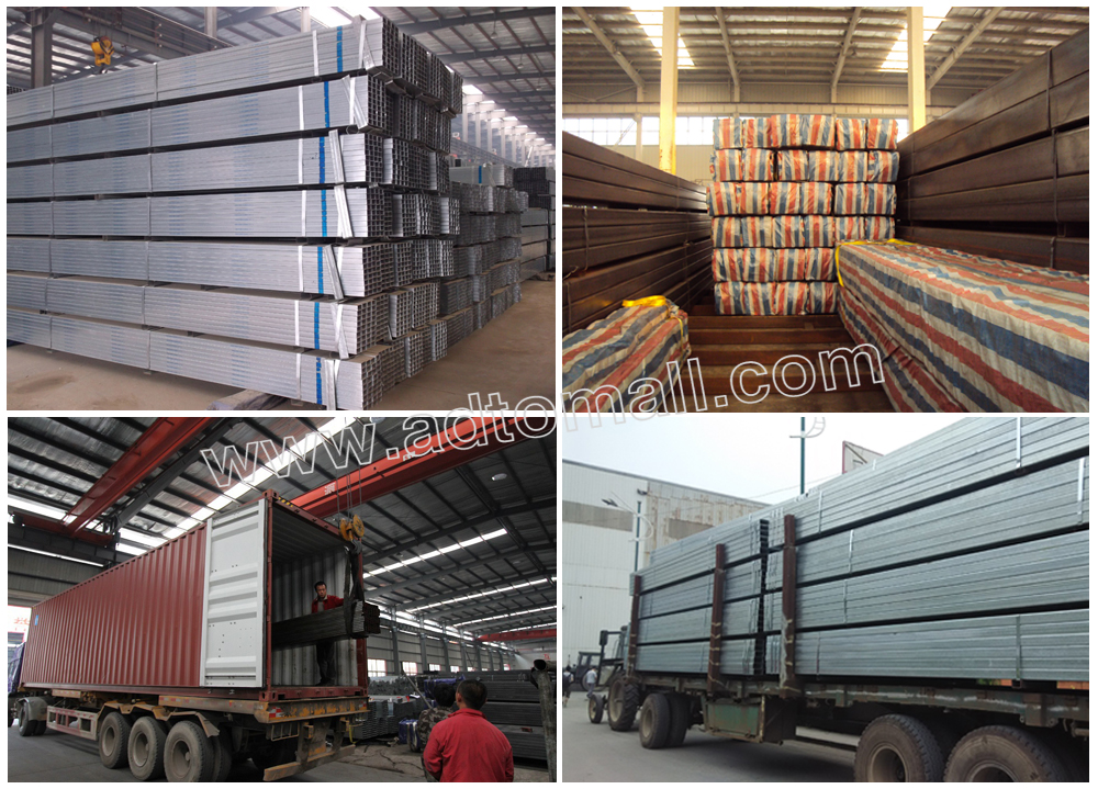 Custom size and thickness astm a rectangular pipe