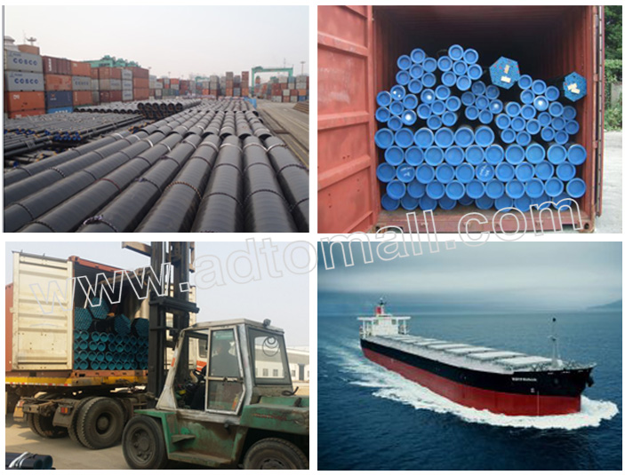 seamless steel pipe packaging and shipping