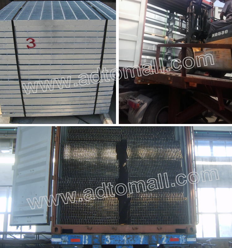 steel grating packaging and shipping