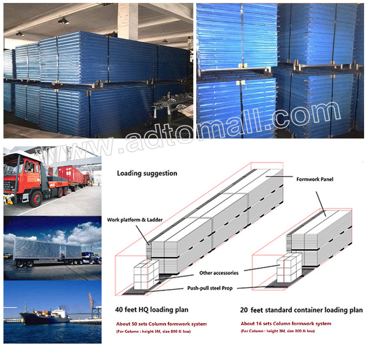 steel frame formwork packaging and shipping
