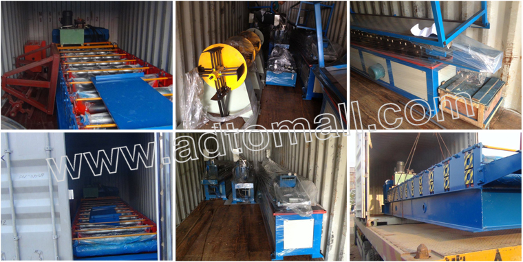 Trapezoidal sheet roll forming machine Packaging and Shipping