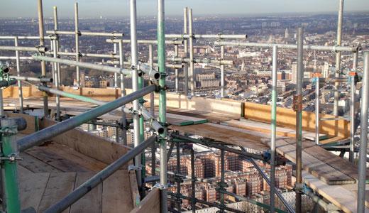 Construction Scaffolding Design : Calculating the area of construction scaffolding
