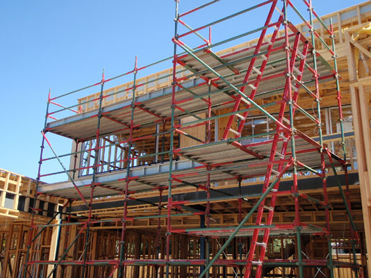 Ladder Scaffold System : Installation process of scaffold ladder