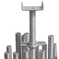 Picture of M38x4x400/ 150x150x50x6MM Hollow U head Screw Jack Electro Galvanized