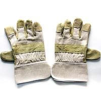 Picture of Short Leather Canvas Gloves (smooth surface)  ADTO-G13-1