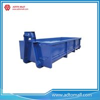 Picture of Stainless steel hook hinge waste lift garbage bins with top quality