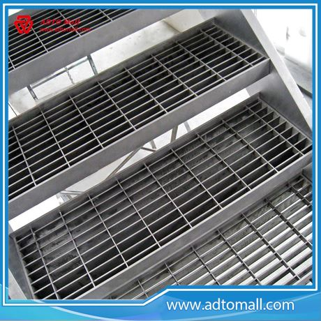 Picture Of Hot Dip Galvanized Steel Grating Stairs Tread