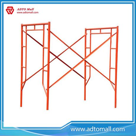 Picture of Wholesale Construction Material Painted or Galvanized A-Frame Scaffolding H-Frame Scaffolding