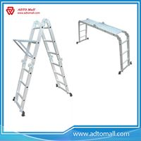 Picture of Aluminum Fold-up Ladder with Locking Hinge