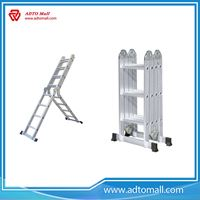 Picture of Aluminum Industrial Folding Multi Task Ladder With Plank