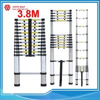Picture of 3.8M EN131-6 Folding Ladder Telescopic with Finger Protector