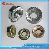 Picture of White or Yellow Zinc Plated Flange Head Nut