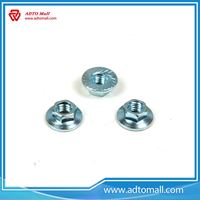 Picture of DIN6923 Blue-White Zinc Plated Flange Head Nut