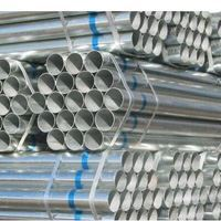 "BS1387 Gr.B 4""x4.5mmx6m Hot Dipped Galvanized Pipe"