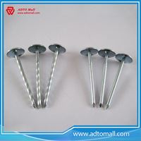 "Picture of 1/2""-10"" Diameter Zinc Plated Umbrella Head Roofing Nails"
