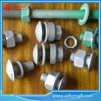 Picture of Color Painted Gree Guardrail Bolts Nuts