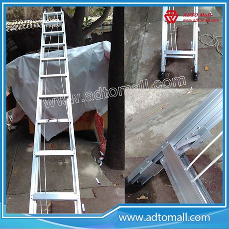 Picture of High quality combination aluminium rope extension step ladder