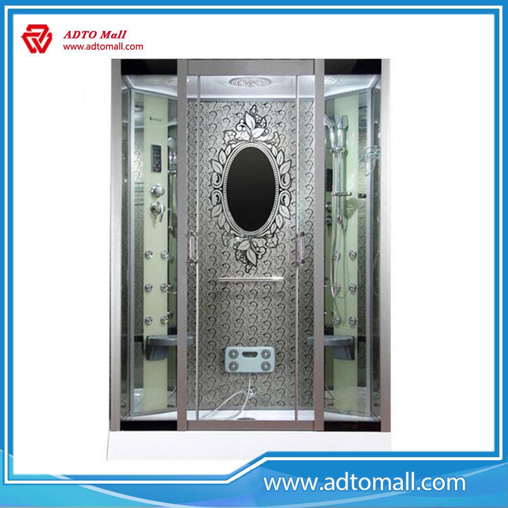 Aluminum Alloy frame,tempered glass,double doors sliding shower cubicle