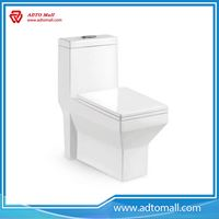 Picture of Ceramic bathroom color one piece toilet siphonic water closet for house project