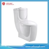 Picture of Top quality floor mounted installation type ceramic material one-piece sipnonic toilet for water closet