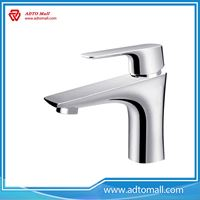 Picture of In-stock Factory New Design Brass Copper Spout Hot-Cold Single Handle Wash Basin Water Tap Types