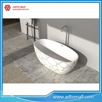 Picture of Freestanding White Solid Surface Acrylic Bathtub