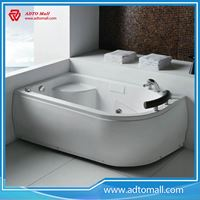 Picture of High quality Hot sale solid surface bathroom round shape freestanding soakingbathtub