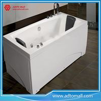 Picture of Eco-friendly Harmless certification freestanding artificial stone solid surfacebathtub
