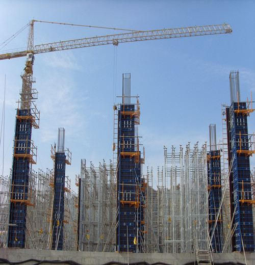 Adjustable Column Formwork, Element Hotel in Suzhou, China.