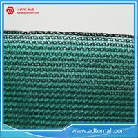 Picture of Green Safety Net Construction with White Rope