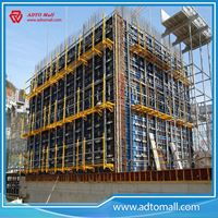 Picture of steel frame formwork used in pillar/wall/column formwork building project