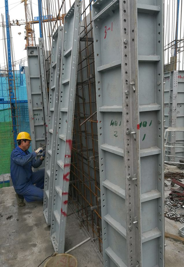 Aluminum Formwork System in China-Wuhan Gymnasium