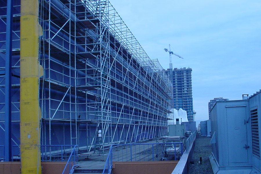 Construction Safety Nets: Brick Guardrail Nets