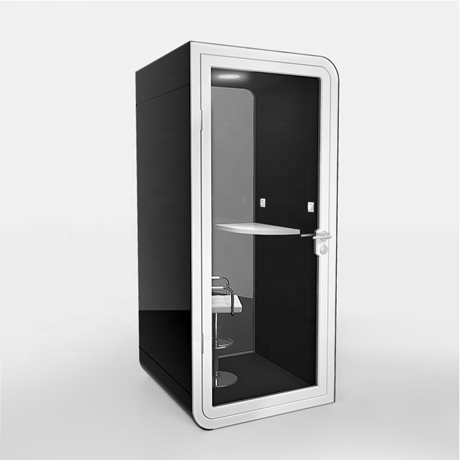 Picture of Privacy Phone Booth for Public Area with Electrical Charger