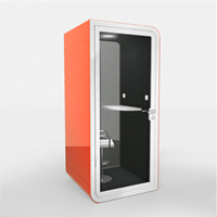 Privacy Phone Booth for Public Area with Electrical Charger