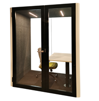 Soundproof Office Phone Booth with Lightening and Exhaust Fan