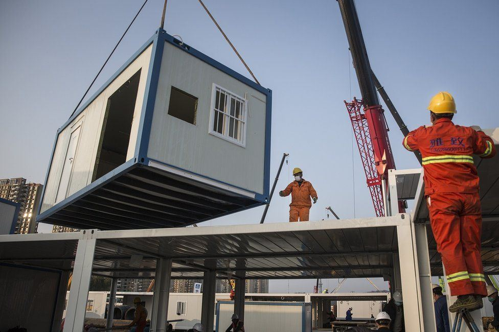 China Prefabricated Container Hospital for Coronavirus Was Built in Just A Week